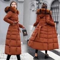 long padded jacket fashion winter jacket womens thick down down parka coat womens slim fur collar winter warm coat womens