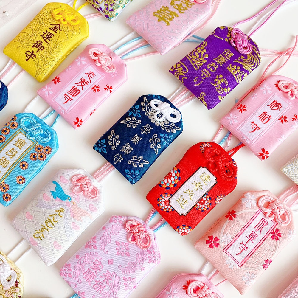 39Style New Omamori Pray Fortune Beauty Health Safe Transparent Wealth Bag Guard Talisman Pendant Ke