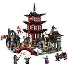 737 pçs diy ninja templo de airjitzu ninjatoes versão menor blocos de construção conjunto compatível lepining ninja brinquedo para crianças tijolos
