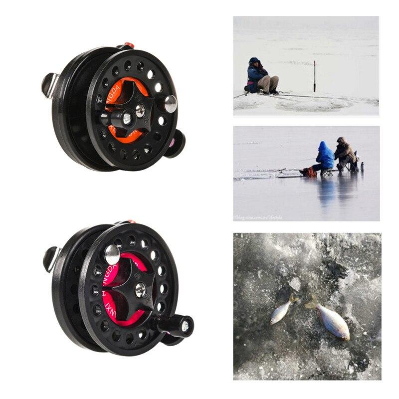 Inverno de pesca no gelo carpa carretel de pesca carretel de esferas rolamentos pessoal mini carretel de pesca de freio de peixe lidar com frente carretel ferramenta