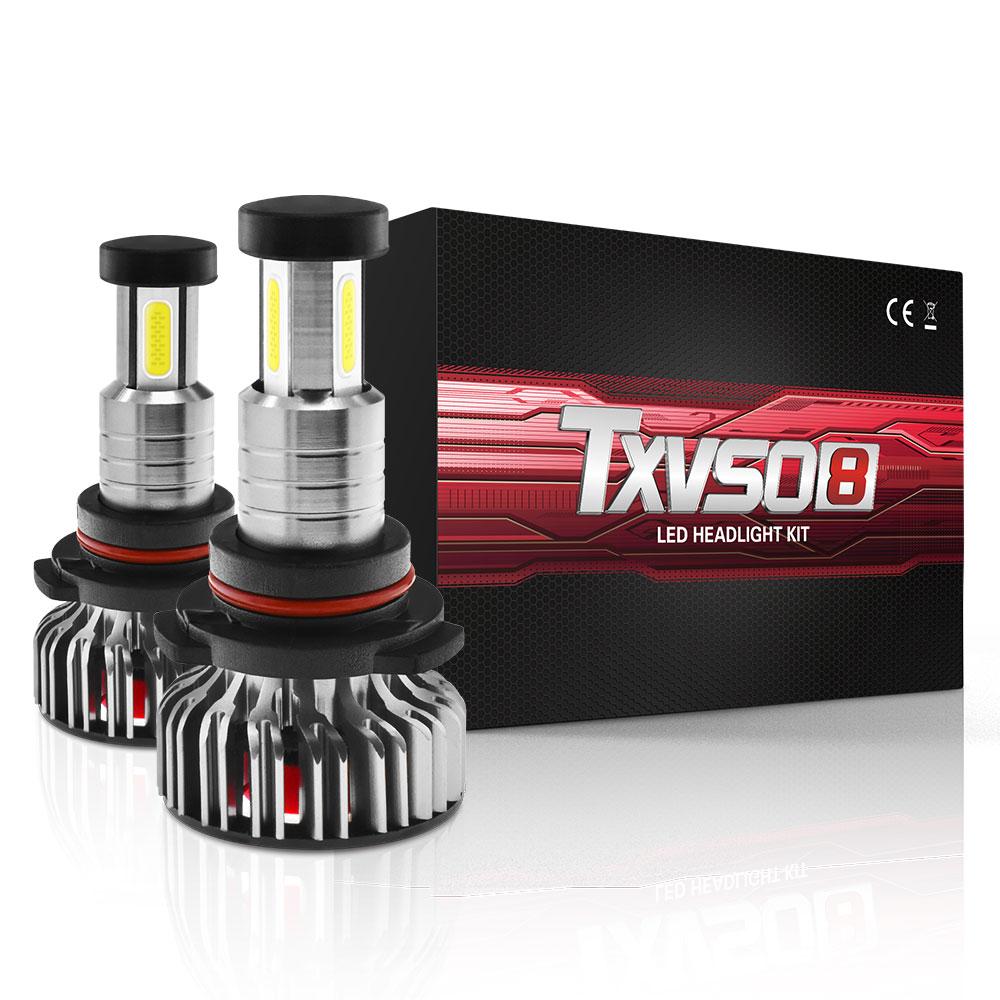 1 par LED faro TXVSO8 X3 9005/HB3 Luz de bulbo 30000LM 360 grados