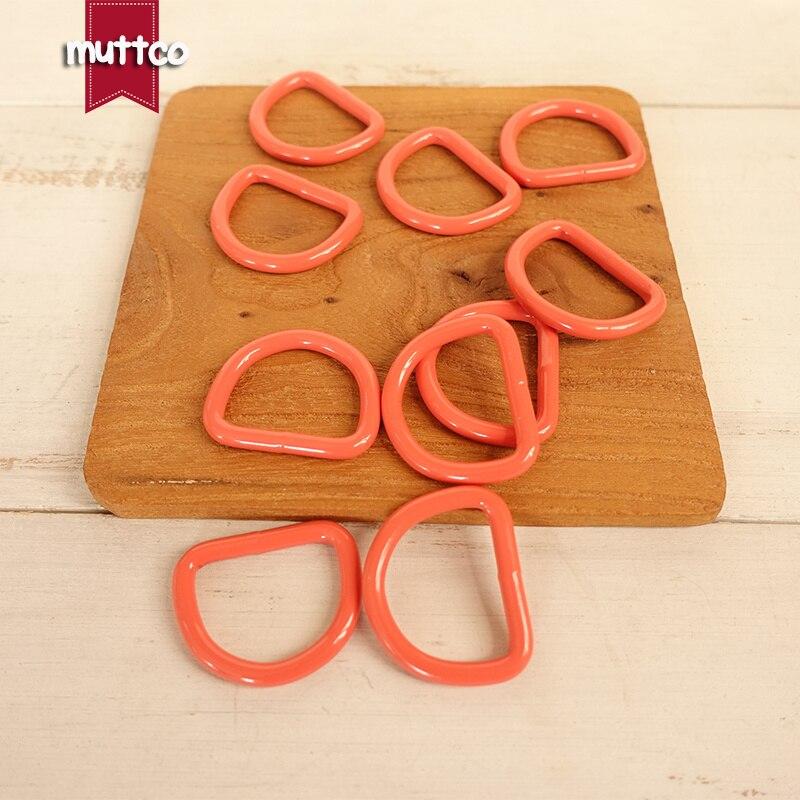 Rot orange metall d RING diy FÜR hund Kragen 2,5 cm anschluss Legierung schnallen Diy SEMI Ring Gurtband Verschluss Clip CDK-25R