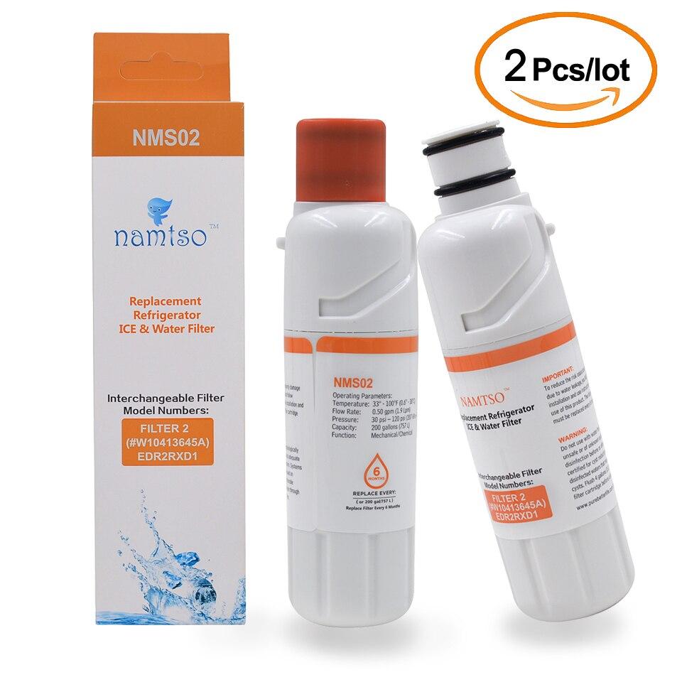 Namtso Nms02 الشرب تصفية المياه الثلاجة المياه استبدال فلتر ل Everydrop Edr2rxd1 W10413645a 2 قطعة/الوحدة