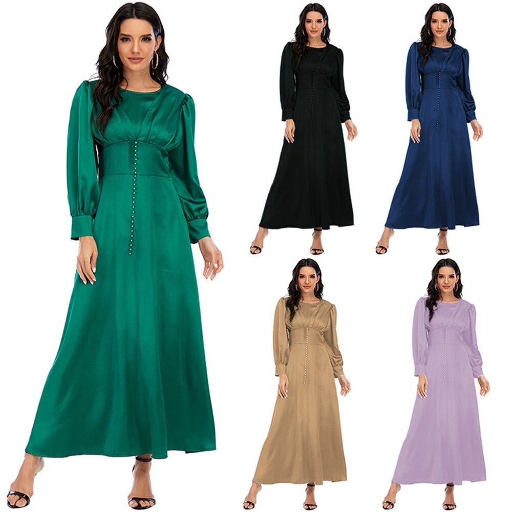 Abaya Дубай мусульманское длинное атласное платье кафтан женское вечернее платье женское длинное платье женское Повседневное платье charli длинное платье