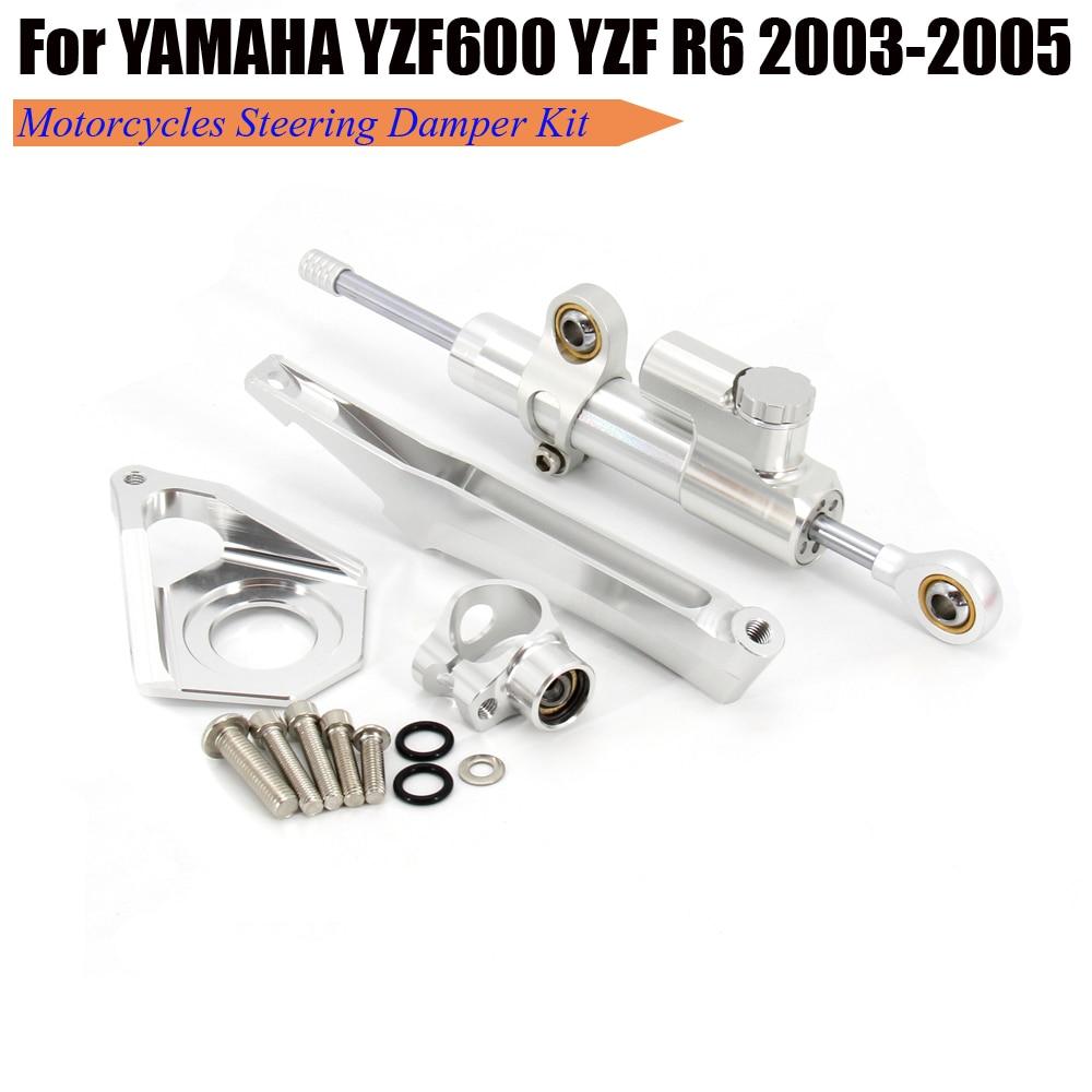 Para yamaha yzf600 yzf r6 2003 2004 2005 motocicletas estabilizar o amortecedor de direção suporte montagem kit