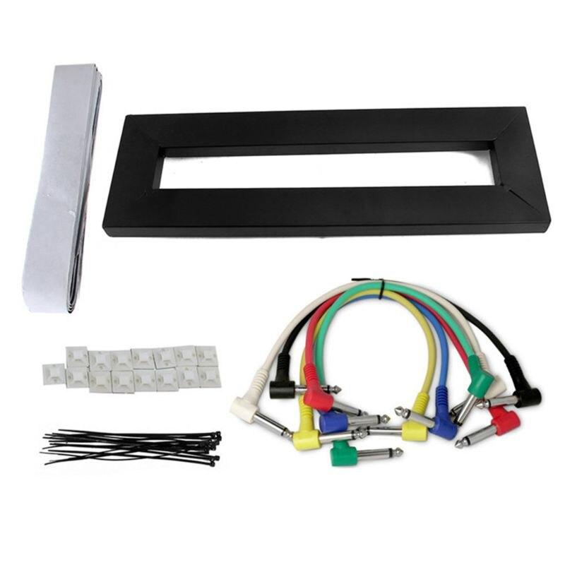 Pedal de efectos de guitarra, soporte de efectos de guitarra eléctrica, Pedal de efecto guitarra eléctrica, Kit de cables, accesorio para instrumentos musicales