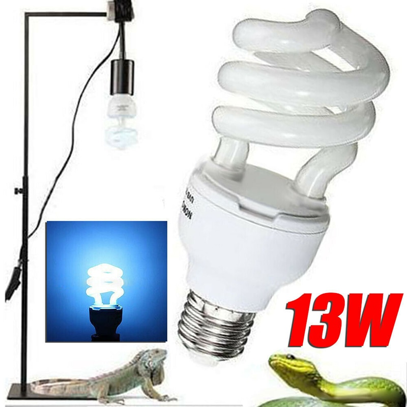 5.0/10.0 UVB 13/26W Compact Light Fluorescent Terrarium Reptile Lamp Bulbs Light DSS899