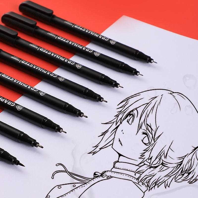 japanese pigma micron pen soft brush drawing pen sketch needle pen liner fineliner 005 01 02 03 04 05 08 1 0 brush art markers Hand Painted Waterproof Hook Liner Drawing Pen Set 005 01 02 03 04 05 08 1.0  Art Markers Fineliner Sketching Pen  Quick Dry