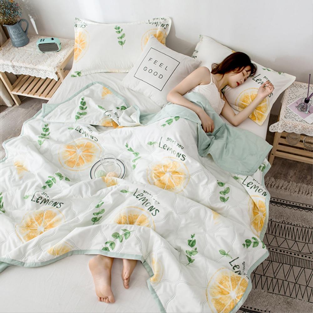 لحاف السرير الصيفي المنفوش المنفوش المنفوش على السرير بطانية مزدوجة المعزي لحاف تكييف الهواء