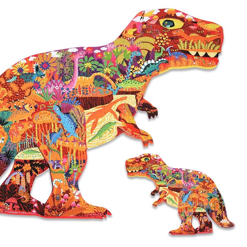 Mideer для детей раннего развития, 280 штук, динозавры, головоломки из бумаги, игрушки