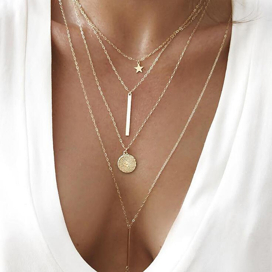 Женское Ожерелье-чокер RAVIMOUR, винтажное ожерелье в стиле бохо с круглой подвеской