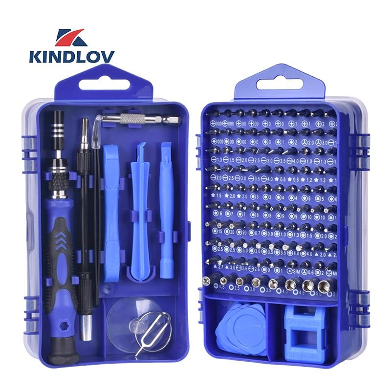 KINDLOV Phone Repair Tools Kit Screwdriver Set Precision 115 In 1 Magnetic Torx Hex Bit Screw Driver Bits Insulated Multitools