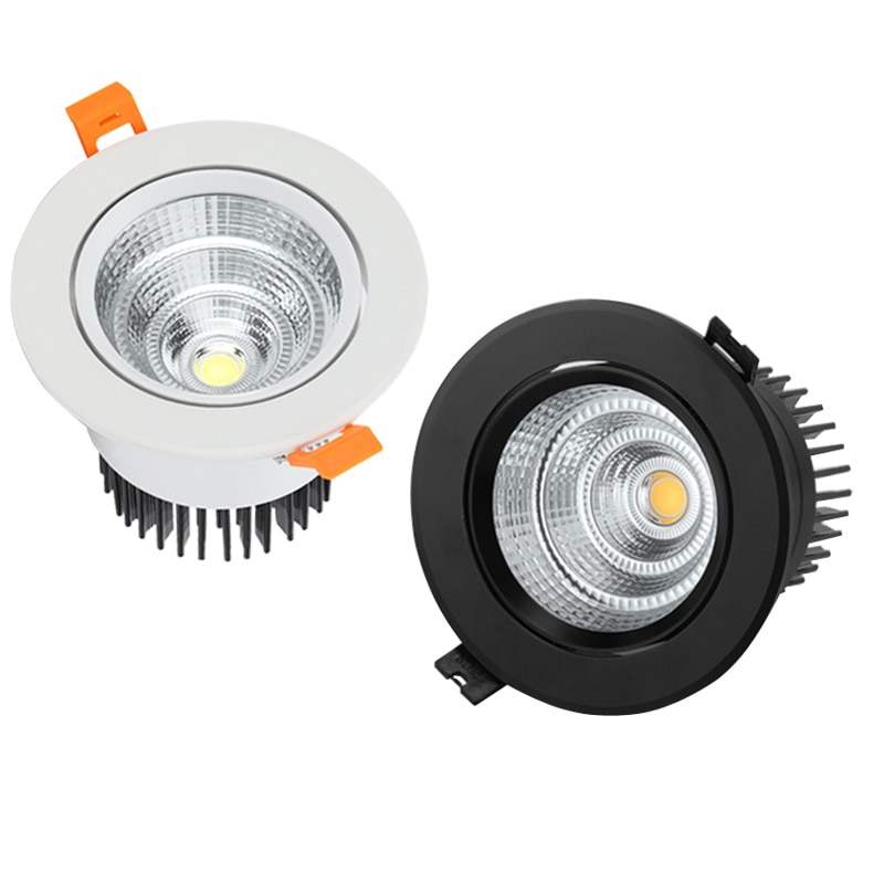 Les Downlights de LED de Dimmable 3W 5W 7W 9W 12W 15W lépi LED les projecteurs de lampe de plafond AC110-220V le plafond enfoncé allume léclairage dintérieur