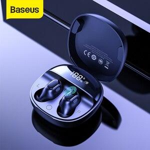 Baseus WM01 плюс Беспроводной наушники-вкладыши TWS Bluetooth 5,0 наушники стерео спортивная водонепроницаемая гарнитура с светодиодный цифровой Дисп...