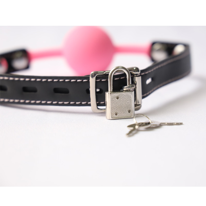 Gag In Mouth For Blowjob Erotic Open Mouth Ball For Girl Sucker Sexy Lip Oral PU Leather With Chain Nipple Clip Adult Toy