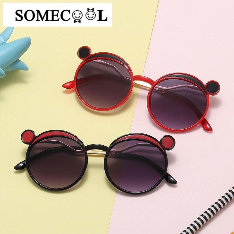 2020 новые милые Мультяшные солнцезащитные очки в форме уха Микки Маус, винтажные круглые детские очки UV400 для мальчиков и девочек 3-8 лет, n490