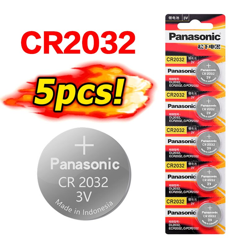 PANASONIC 5 uds cr 2032 batería nueva cr2032 3v pila de botón baterías para reloj ordenador juguete DL2032 ECR2032 KCR2032