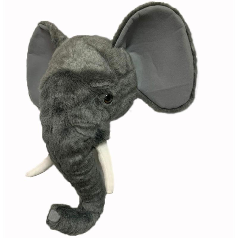 2020 elefante decoração de parede de cabeça de animal de pelúcia decoração de parede para quarto de berçário ou crianças-quarto de elefante para crianças presente de aniversário
