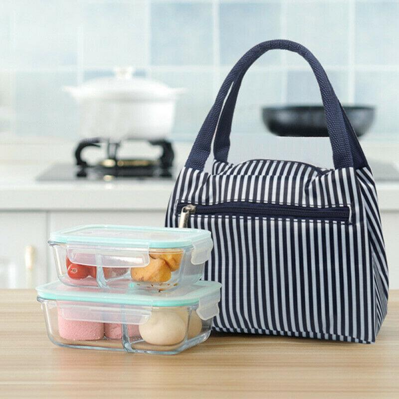 Bolsa de almuerzo portátil para cocina, bolsa de caja de almuerzo con aislamiento térmico, contenedor de cena, bolsas de almacenamiento de comida escolar, accesorios de viaje