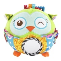 multifunctional baby cartoon plush ball toys owl lion soft rattle bell early educational toy baby hand grasp ball