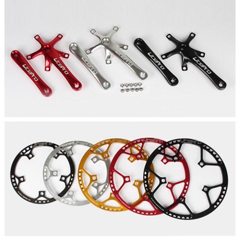 Litepro 45T 47T 53T 56T 58T bicicleta rueda dentada del cigüeñal para Brompton 14 16 18 20 pulgadas bicicleta de cadena plegable bicicleta 130 BCD manivela
