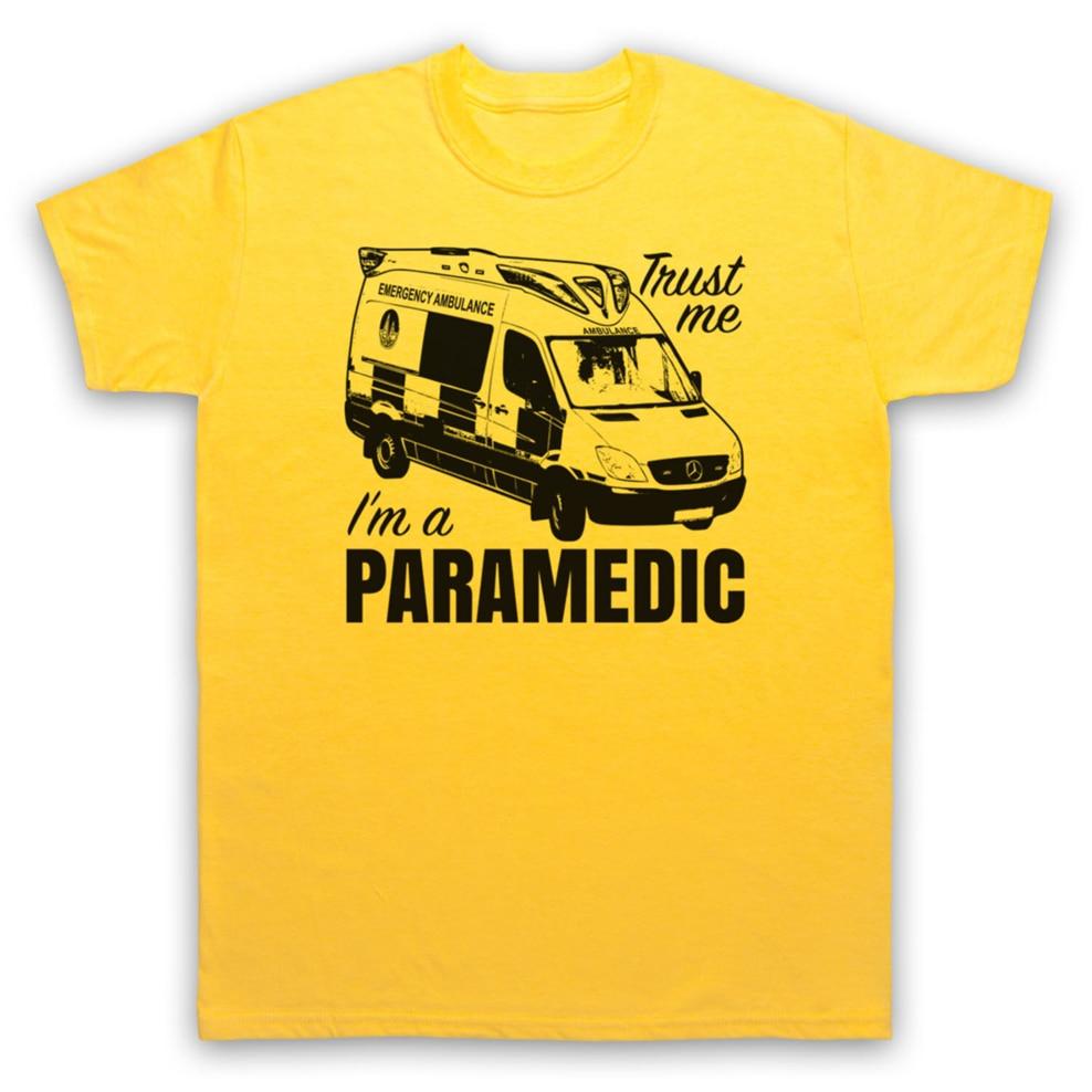 Trust Me IM A amedic emergencia respuesta ambulancia camiseta adultos niños tamaños Vintage gráfico camiseta