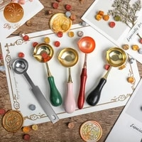 high quality stainless steel wax spoon retro wax seal spoon sealing wax spoon stamps for scrapbooking wax seal stamp spoon