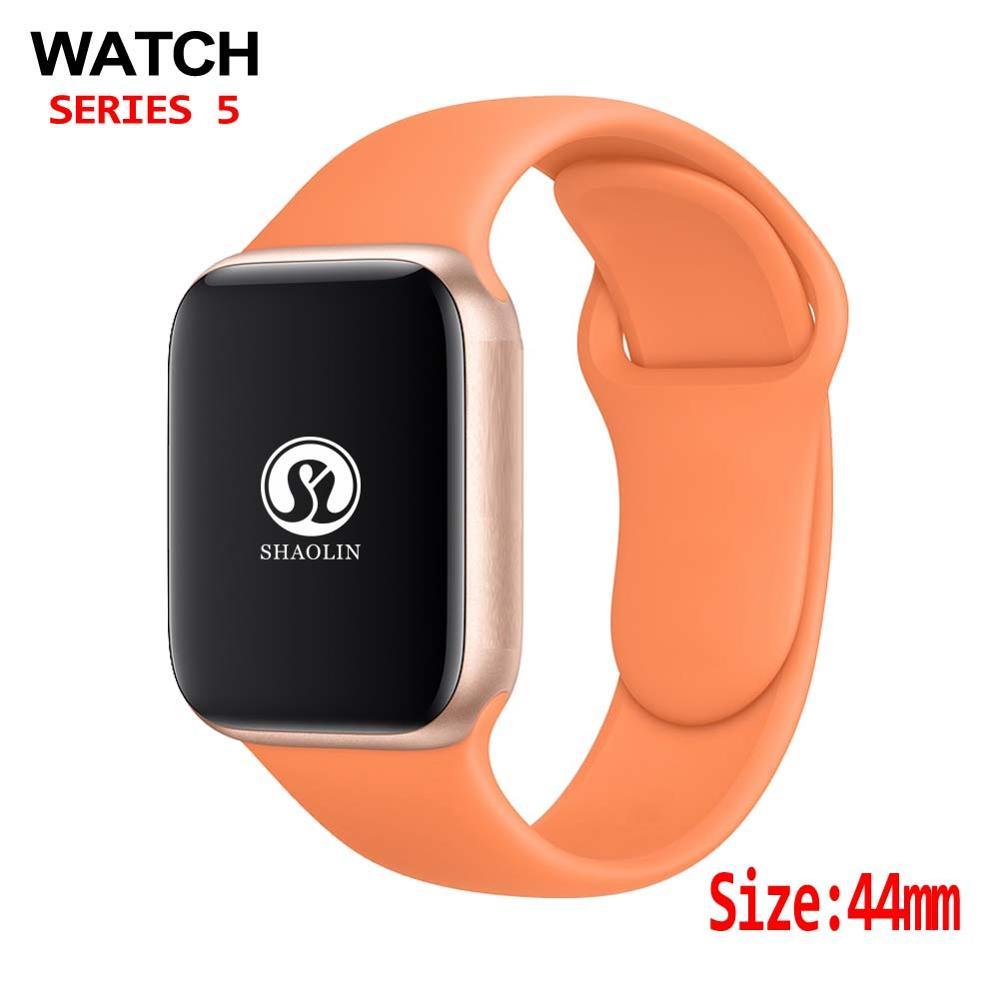 44mm bluetooth relógio inteligente 11 caso smartwatch para apple assistir série 4 ios iphone 8 plus xs android telefone inteligente não apple relógio