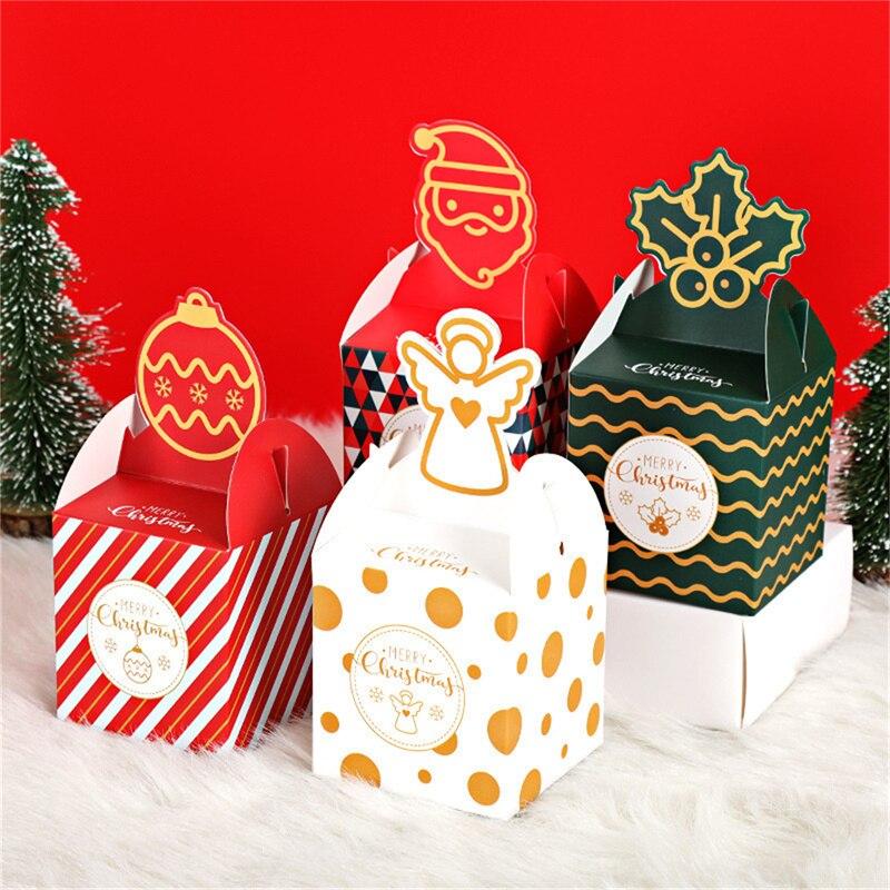Рождественские подарки, рождественские коробки для подарков, декоративные бумажные конфетные контейнеры, подарочные упаковочные коробки ...