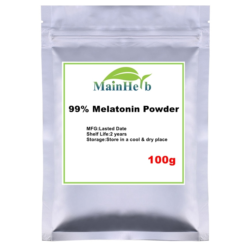 100g 99%Pure Good sleep King- Melatonin powder for Improve sleep,Delaying aging ,prolong the period of deep sleep