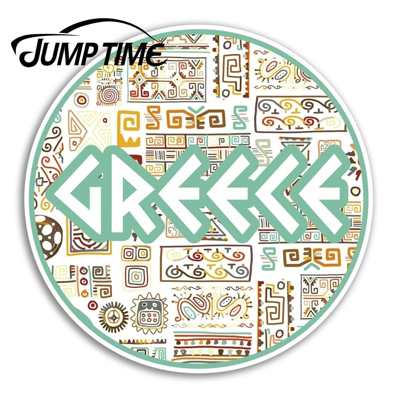 Jump Time Greece Vinyl Stickers Greek Cool Travel Sticker Laptop Luggage Decal Decor Window Bumper Waterproof