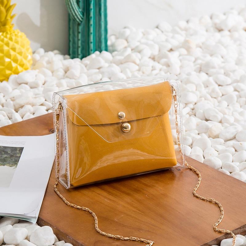 Fashion Small Bag Female Fairy Square Crossbody Messenger Bag Chain All-match Shoulder Bag Phone Bag 2 Pieces Set