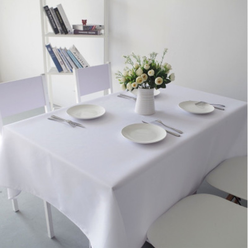 White party cover cloth tablecloth oversized rostrum tablecloth home decoration wedding banquet hotel clothing direct sales