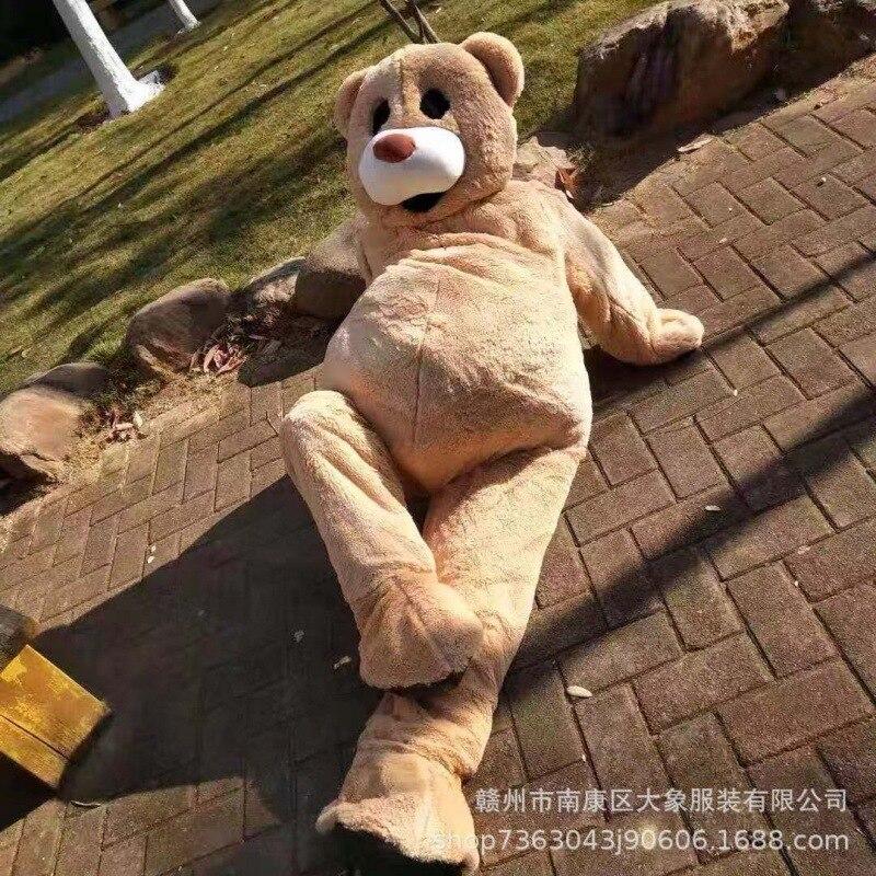 زي التميمة الرقص الدب أفخم دمية دب رجل يرتدي دمية زي تأثيري مضحك