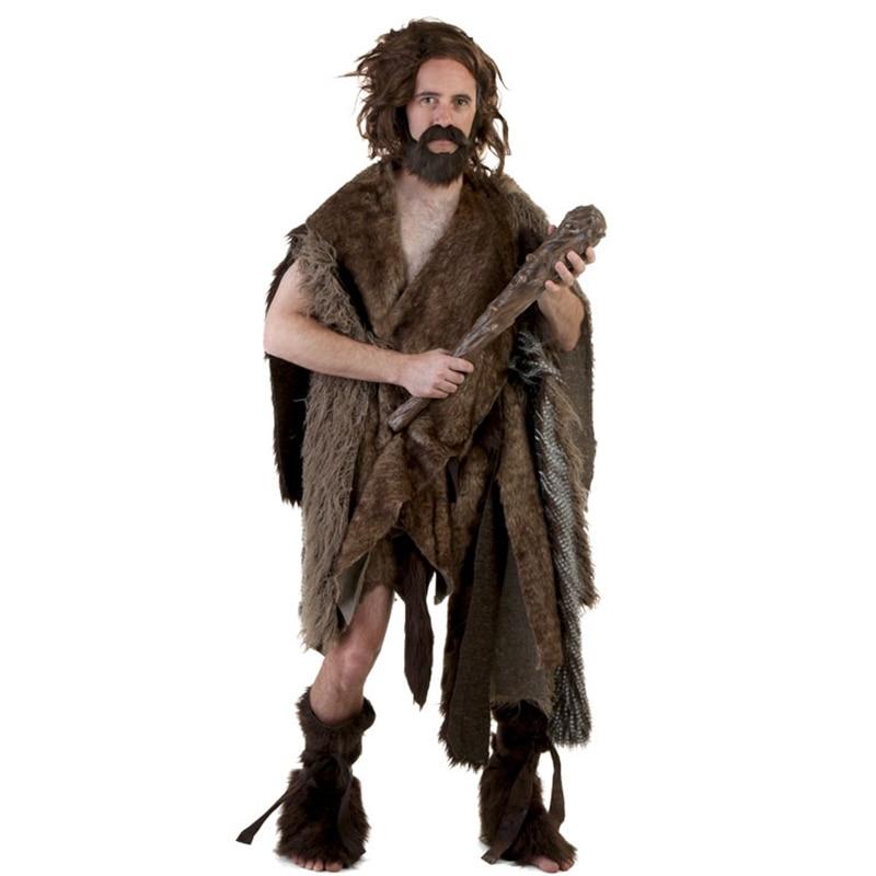 زي كرنفالي بدائي لحفلة الهالوين للسن الحجري زي وحشية بدائية للبالغين للرجال أزياء فريد فلينتستون تأثيري