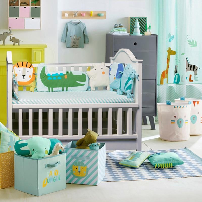 Babyinner 5Pcs/Set Baby Bed Bumper Cotton Crib Fence Sheet Child Cartoon Animals Newborn Cot Protect Anti-collision Room Bedding enlarge