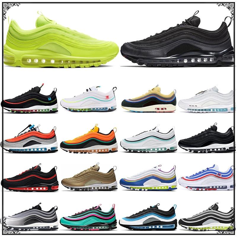 Chaussures de course pour hommes et femmes, baskets respirantes, Triple noir, blanc, Sean Wotherspoon, MSCHF x INRI jésus Aurora vert, 97, nouvelle collection