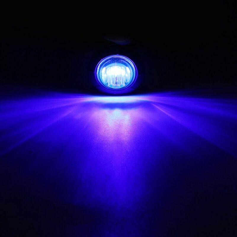 Substituição exterior da iluminação das lâmpadas 12v 8500k 1 w da bala redonda da luz do marcador lateral do reboque
