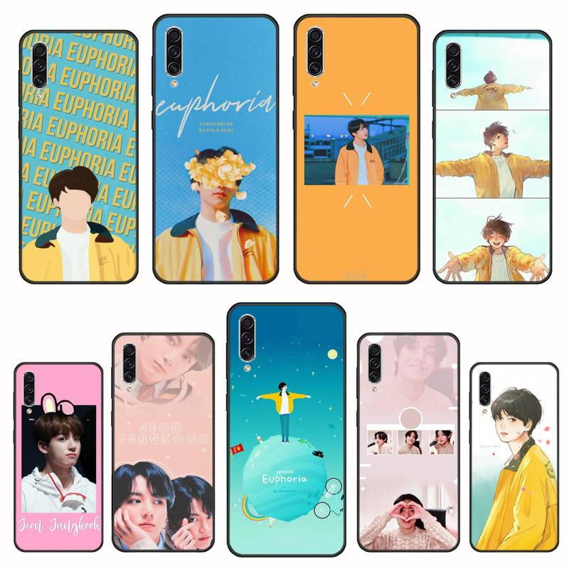 Funda de teléfono móvil Euphoria Jungkook KPOP para Samsung A20 A30 30s A40 A7 2018 J2 J7 prime J4 Plus S5 Note 9 10 Plus