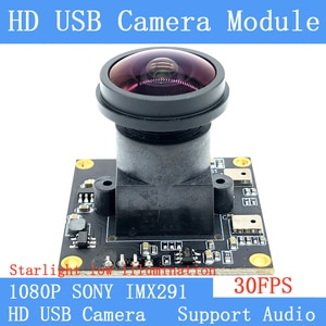 Industry Star Light Low illumination 2MP HD 1080P SONY IMX291 Webcam UVC 30FPS Wide view angle USB Camera Module with Microphone