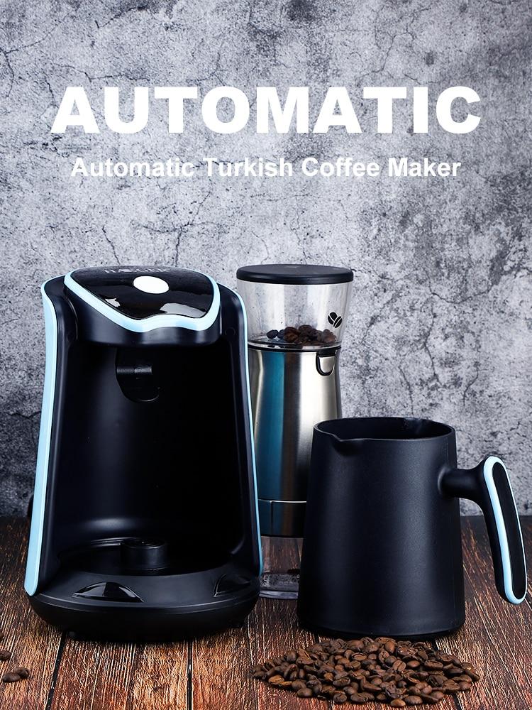 ماكينة القهوة التلقائي التركية صانع القهوة 600 واط 4 أكواب إبريق قهوة كهربائية تخمير قدرة 70-800 مللي 220 فولت الاتحاد الأوروبي التوصيل