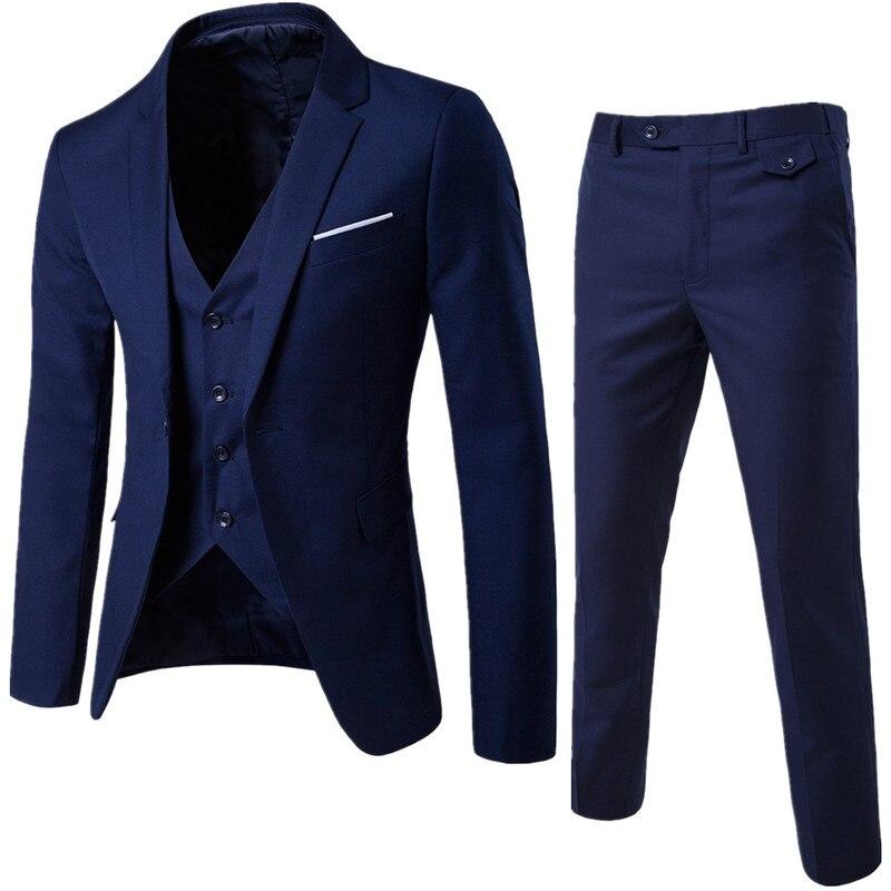 Блейзер жилет деловой джентльмен 3 шт./Свадебный жвачка классические эффекты Стройное платье мужские высококачественные куртки