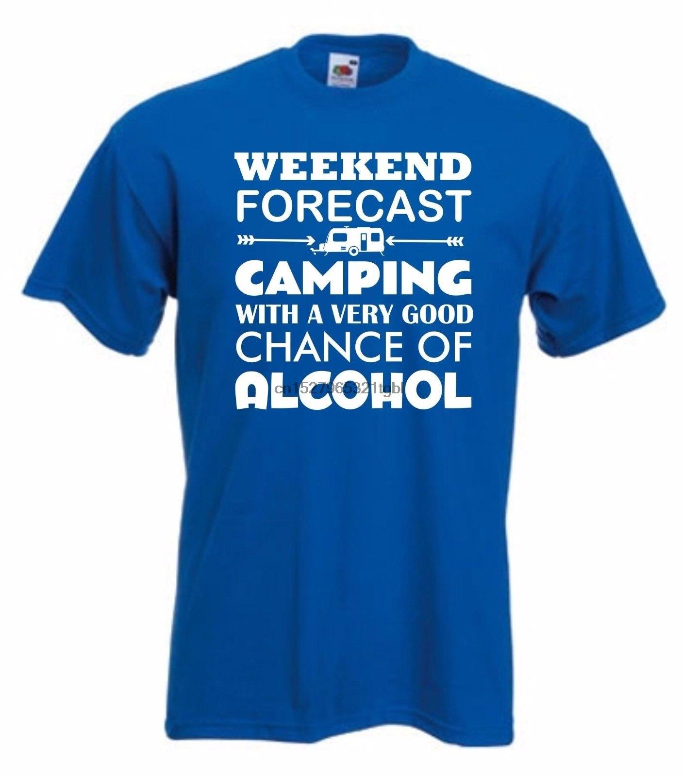 Caravana Alcohol camiseta divertida camiseta FIN DE SEMANA camiseta vino cerveza S-XXXL nuevas camisetas divertidas camisetas
