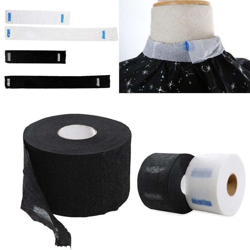 1 rollo de pelo cuello desechables collar de peluquería de capa de peluquería que rollo de papel para el cuello de corte de funda de delantal