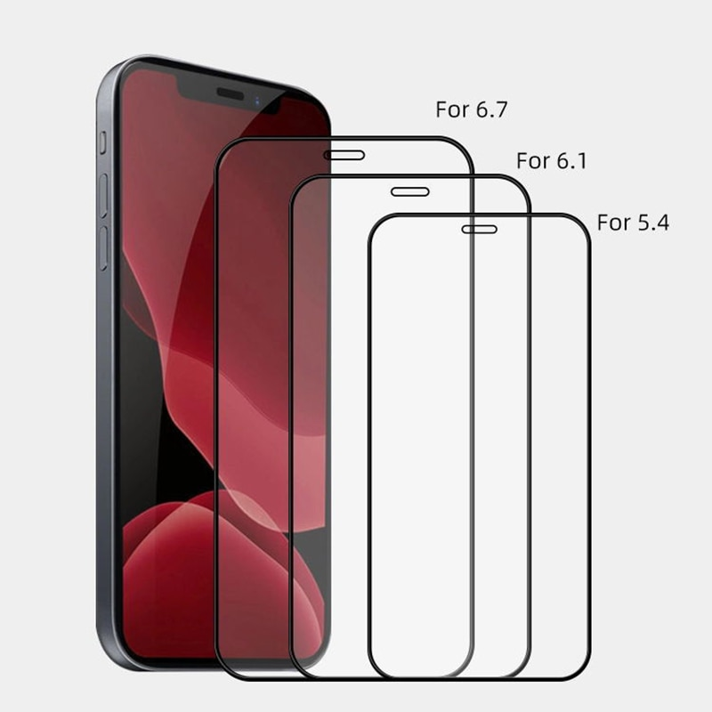Full Cover Tempered Glass For iPhone 12 Pro Max 7 11 13 X S 6 6S 7 8 Plus mini Xs Max Se 2020 Xr Scr