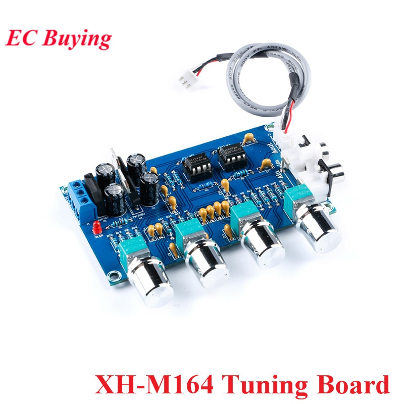 XH-M164 ne5532 tuning tone placa de som frente estéreo preamp pré-amplificador de áudio 4 canais módulo amplificador de potência pre-amp kit