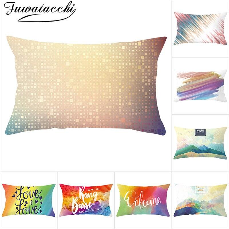 Fuwatacch funda de cojín de diseño geométrico colorido Syle Throw fundas decorativas para almohadas para decoración del hogar fundas de almohada 30*50cm