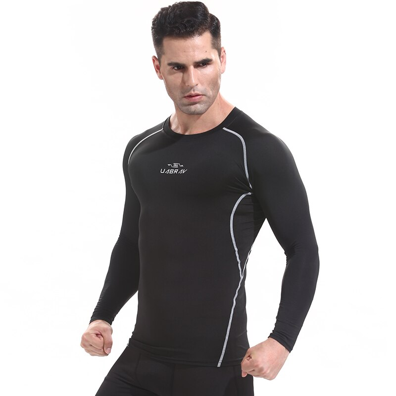 FJ2048B-Workout de manga corta para hombre, camiseta térmica para culturismo, ropa ajustada elástica de compresión para hombre, ropa de ejercicio