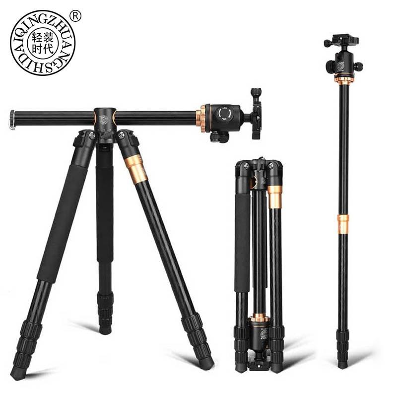 QZSD Q999H سبائك الألومنيوم كاميرا ترايبود فيديو Monopod المهنية للتمديد ترايبود مع لوحة الإفراج السريع ورئيس الكرة