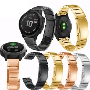 Strap width 20mm smart accessory wrists straps quick release stainless steel fashion luxury wrist bands for Garmin Fenix 6S Band